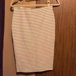 High Waisted Striped Skirt